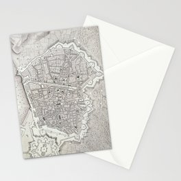 Vintage Map of Barcelona Spain (1806) Stationery Cards