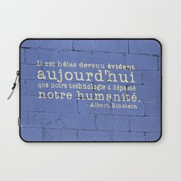 Thus Spake Albert Einstein Laptop Sleeve