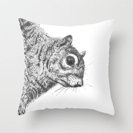 Squirrel! Throw Pillow