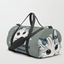 Cat. Conceptial design: it's not a home without fur kids Duffle Bag