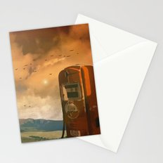 old fuel pump Stationery Cards