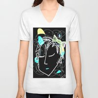 bow V-neck T-shirts featuring Bow by transFIGure
