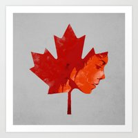 tegan and sara Art Prints featuring Canadiquin [Tegan and Sara] by Canadiquin