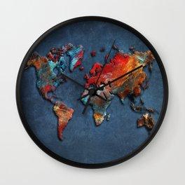 World Map 2020 Wall Clock