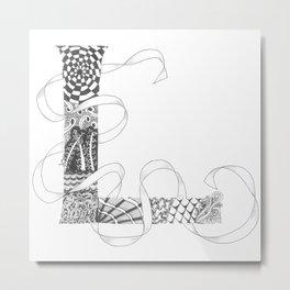 "Zenletter ""L"" Metal Print"
