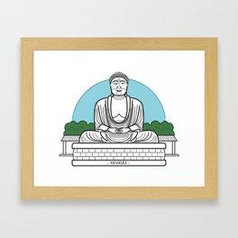 Icon-O-Tecture | Kamakura Buddha Framed Art Print