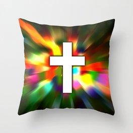 Cross in Color - Bible Lock Screens Throw Pillow