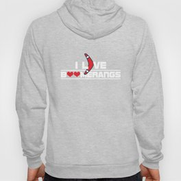 I Love Boomerangs Sports Wind Game Competitive Sports Athletic Gifts Hoody