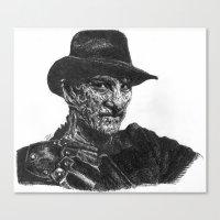 freddy krueger Canvas Prints featuring Freddy Krueger by Britzombiegirl
