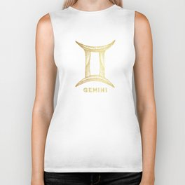 Gemini Zodiac Sign Biker Tank