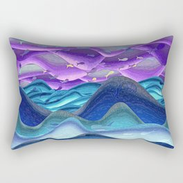 Blue sea purple sky glowing Rectangular Pillow