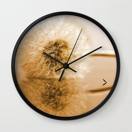 Dandelions on the macro level Wall Clock