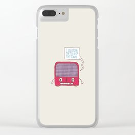 Radio Static Clear iPhone Case
