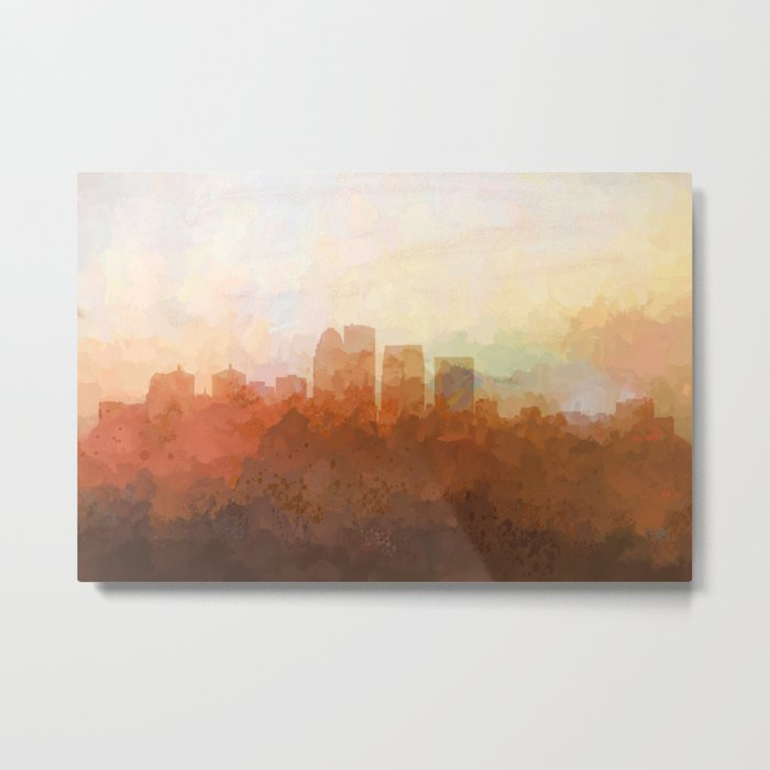 Louisville, Kentucky Skyline - In the Clouds Metal Print