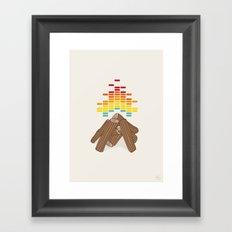 Crackling Fire Framed Art Print