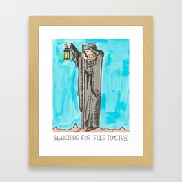 Searching For Fcks x Judgmental Deck Framed Art Print