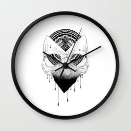 Enigmatic Skull Wall Clock