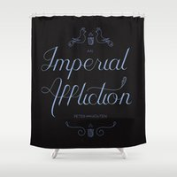 tfios Shower Curtains featuring An Imperial Affliction by Lala Vicencio