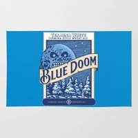 doom Area & Throw Rugs featuring Blue Doom by Moysche Designs