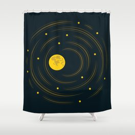 Moon And Stars Dream Shower Curtain
