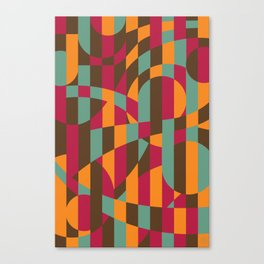 Abstract Graphic Art - Roller Coaster Canvas Print