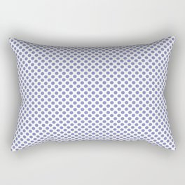Deep Periwinkle Polka Dots Rectangular Pillow