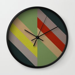 Modernist Geometric Graphic Art Wall Clock