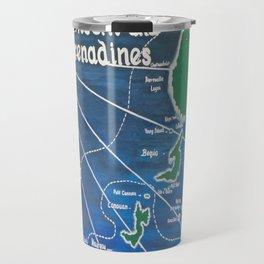 St. Vincent & Grenadines Sailing Map Travel Mug