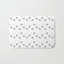 Dandelions in Black Bath Mat
