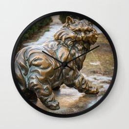 bronze cat Wall Clock