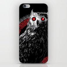 Midnight Owl - Red iPhone & iPod Skin