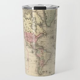 Vintage Map of The World (1884) 2 Travel Mug
