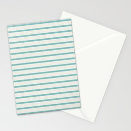 DHURBAN STRIPE AQUA Stationery Cards