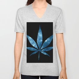 Weed : High Times blue Galaxy Unisex V-Neck
