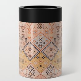 N218 - Mustard Yellow Oriental Heritage Boho Traditional Moroccan Desert Style Can Cooler