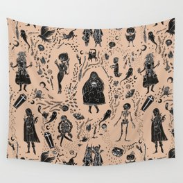 Creatures of the Night (orange) Wall Tapestry