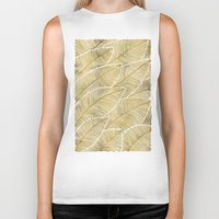tropical Biker Tanks featuring Tropical Gold by Cat Coquillette
