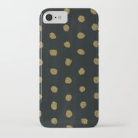 gold dots iPhone & iPod Cases featuring GOLD DOTS by natalie sales