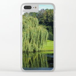 Weeping Willow by a Lake Clear iPhone Case