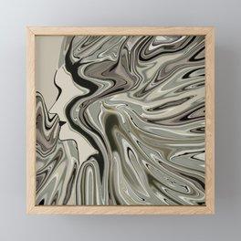 Lady born wild and free Framed Mini Art Print