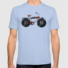 Music Rider Mens Fitted Tee Tri-Blue X-LARGE