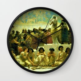 Classical Masterpiece The Slave Market Of Babylon by Edwin Long Wall Clock