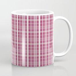 Burgundy Red Background of White Lines Coffee Mug