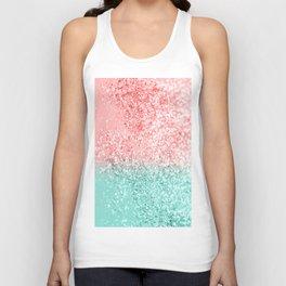 Summer Vibes Glitter #3 #coral #mint #shiny #decor #art #society6 Unisex Tank Top