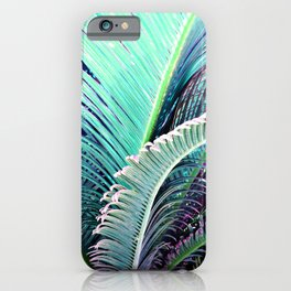 Palms (Teal and purple) iPhone Case