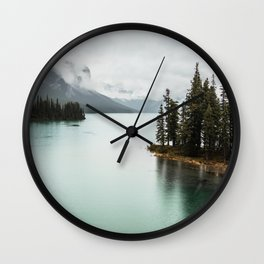 Landscape Photography Maligne Lake Wall Clock