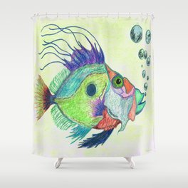 Funky Fish Art - By Sharon Cummings Shower Curtain