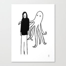 Octopus Hug Canvas Print