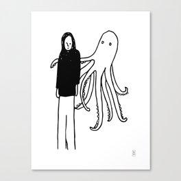 Octopus Hug Canvas Print
