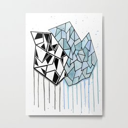 Abstract Geometry Metal Print